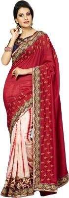 Kvsfab Embriodered Fashion Georgette Sari