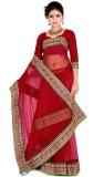 Zoom Fabrics Self Design Fashion Net Sar...