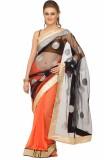 Lime Solid Fashion Handloom Net Saree (O...