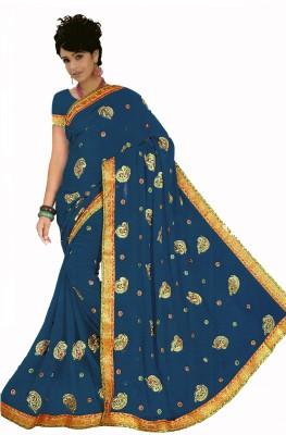 Bosan Fashion Embriodered Fashion Chiffon Sari