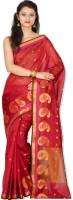 Chandrakala Printed Banarasi Art Silk Saree(Red)