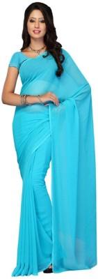 Taksha Creation Solid Daily Wear Pure Georgette Sari