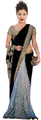 Style Sensus Self Design Bollywood Velvet Sari