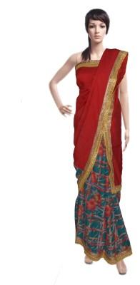 Serwans Printed Daily Wear Crepe Sari