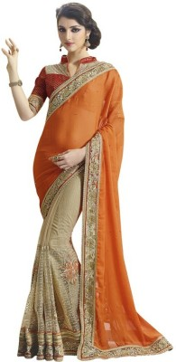 Kintu Designs Pvt. Ltd. Embriodered Fashion Chiffon Sari