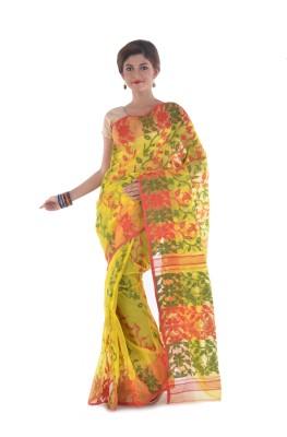 Tanis Self Design Jamdani Handloom Cotton Sari
