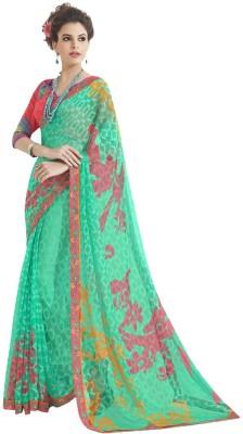 Vastrangsarees Floral Print Fashion Brasso Sari