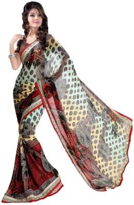 Looks & Likes Printed Fashion Handloom Raw Silk Sari