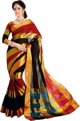 Signature Fashion Plain Bollywood Silk Cotton Blend Sari