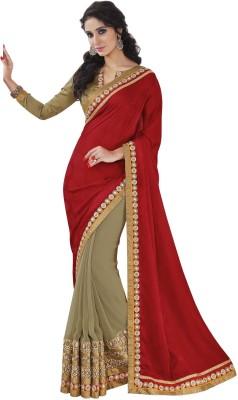 Melluha Embriodered Fashion Crepe Sari