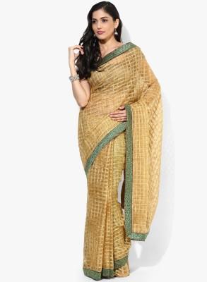 Parchayee Checkered Fashion Polycotton Sari