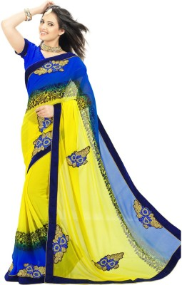 Janasya Self Design Fashion Chiffon Sari