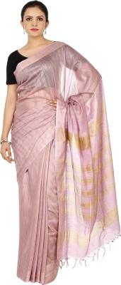 HandiweavesAndPrints Striped Maheshwari Handloom Cotton Slub Sari