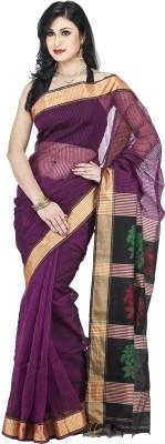 Guava Printed Ikkat Handloom Tussar Silk Sari