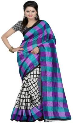 Genius Creation Printed Bhagalpuri Printed Silk Sari