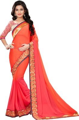 VH Fashion Embriodered Rajkot Georgette Sari