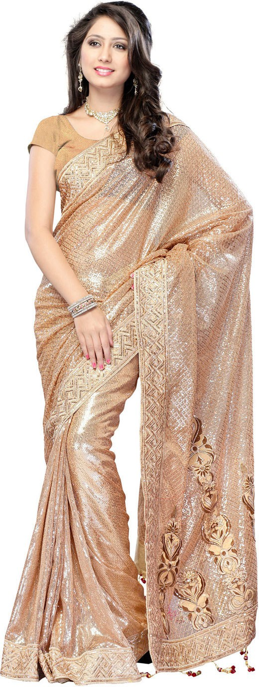 Party Wear Dresses Printed Fashion Net Saree(Multicolor)
