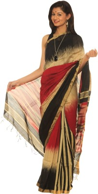 Indo Mood Woven Ikkat Cotton, Silk Sari