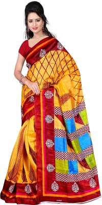 Lauren Creation Printed Daily Wear Cotton Sari