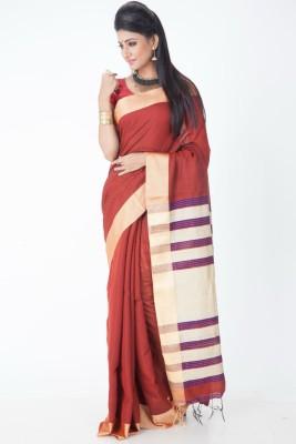 Jhumya Woven Tant Handloom Cotton Linen Blend Sari