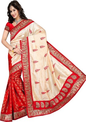 Shoppingekart Printed Fashion Art Silk Sari