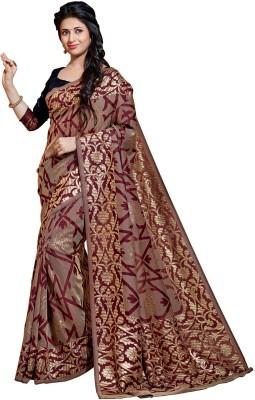 Sarees House Self Design, Printed Bhagalpuri Cotton, Silk Sari