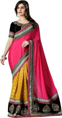 VedDeal Self Design Fashion Pure Chiffon Sari