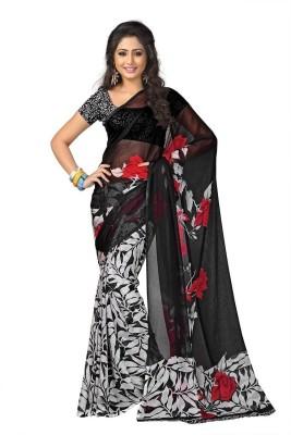 The Designer House Printed Fashion Georgette Sari