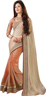 Lajo Printed Bollywood Shimmer Fabric, Georgette Sari
