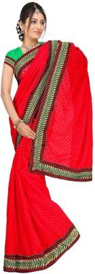 Randeria Fabrics Self Design Bollywood Jacquard Sari