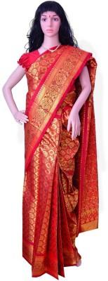 Vinayagan Floral Print Kanjivaram Handloom Silk, Jacquard Sari