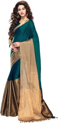 Tg Shoppers Plain Fashion Tussar Silk Sari