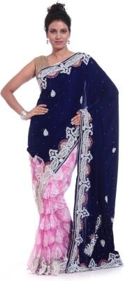 Adaab Embriodered Fashion Velvet Sari