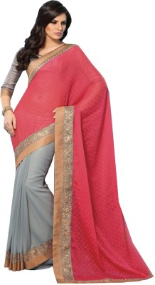 Charu Boutique Embriodered Fashion Handloom Georgette Sari