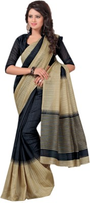 DESIGN WILLA Plain Bhagalpuri Silk Cotton Blend Sari