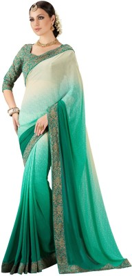 Styleworld Self Design Fashion Georgette, Brocade Sari