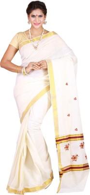 JISB Embriodered Coimbatore Cotton Sari