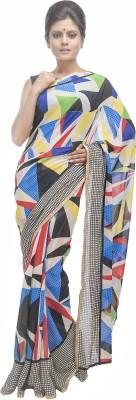 Retaaz Geometric Print Fashion Georgette Sari