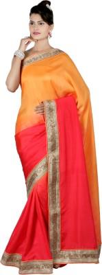 Shwapparels Solid Fashion Crepe Sari