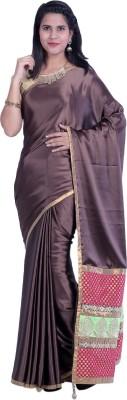 Sampradaaya Plain Fashion Satin Sari