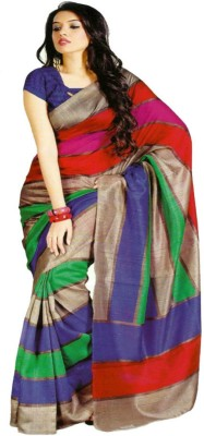 Nk International Self Design Fashion Handloom Silk Sari
