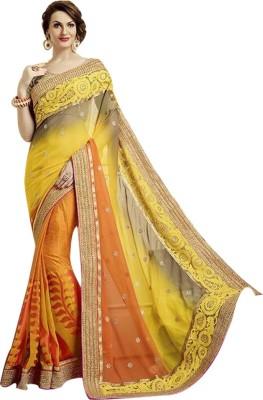 Shop Avenue Embriodered Fashion Brasso Sari