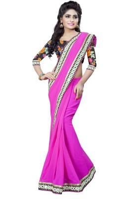 Omkarcreation Embriodered Bollywood Georgette Sari