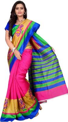 Nena Fashion Floral Print Bollywood kora/ yak wool Sari