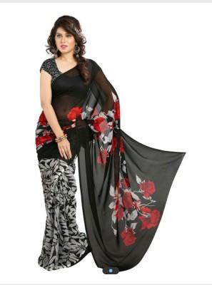 Fabiola Trendz Printed Bollywood Handloom Chiffon Sari