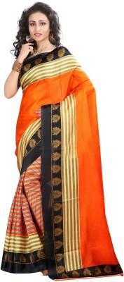 fashionfem Printed Fashion Poly Silk Sari