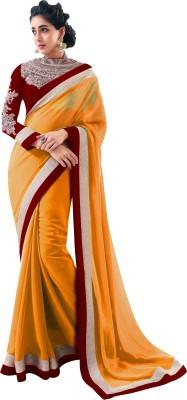 udepusrikanth Self Design Bollywood Georgette Sari