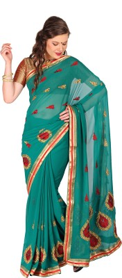 Parchayee Self Design Fashion Chiffon Sari