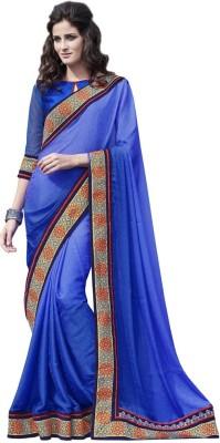 DesiButik Embriodered Fashion Crepe, Jacquard Sari