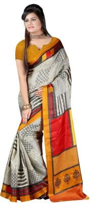 Harikrishna Trading Printed Fashion Poly Silk Sari